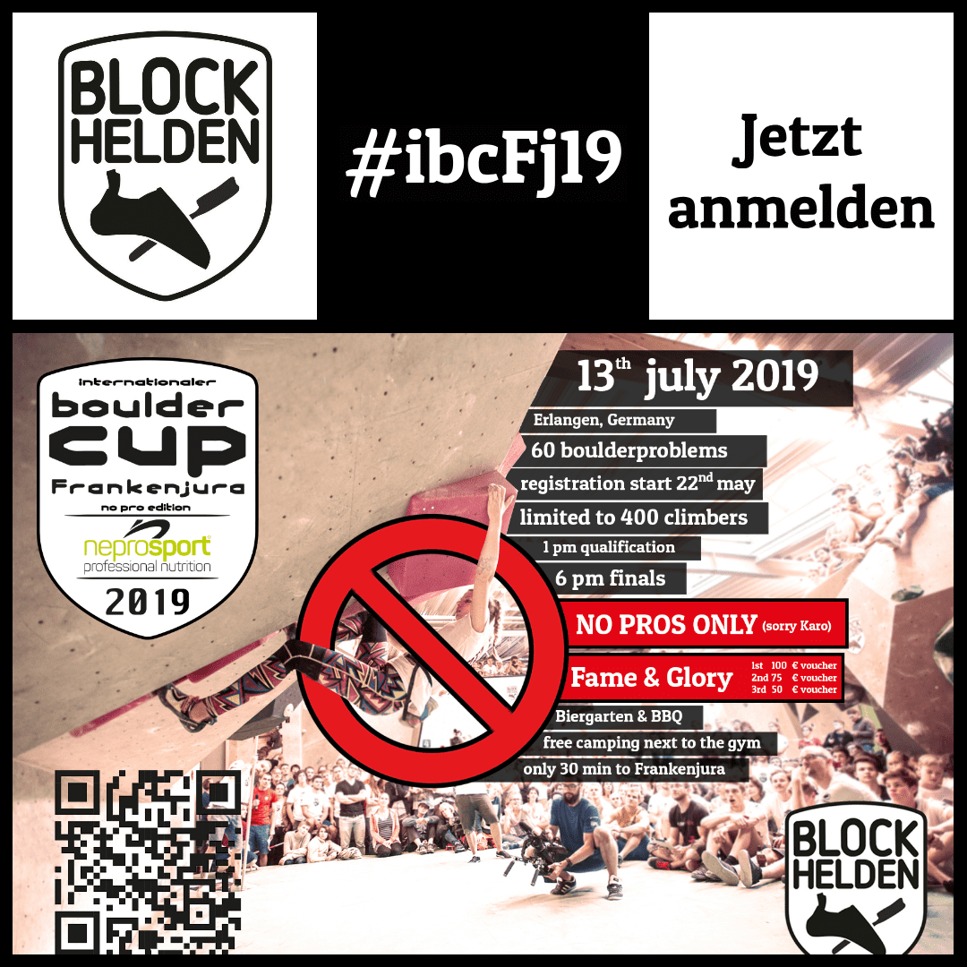 internationaler bouldercup Frankenjura 2019 NoPro